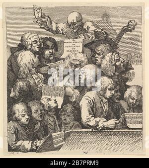 Ein Chorus der Sänger oder das Oratorio, Dezember 1732. - Stockfoto