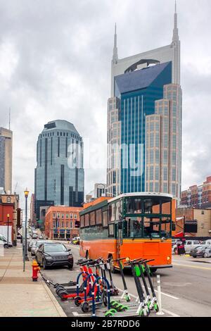 Blick auf die Straße in Nashville während des Tages Stockfoto