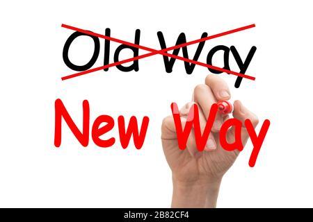 Konzept zur Darstellung des neuen Wegs