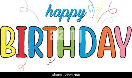 Happy Birthday Typografie Vektordesign für Grußkarten - Stockfoto