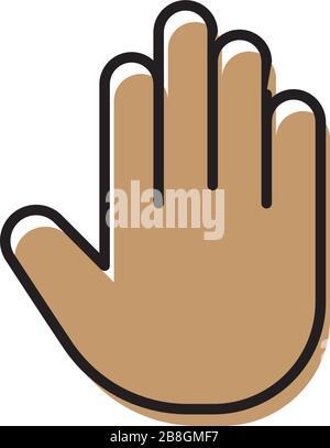 Vektorbefehl stop Symbol Symbol Hand oder die Hand Symbol auf weißem Hintergrund - Stockfoto