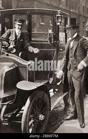 Winston Churchill, hier gesehen c. 1908. Sir Winston Leonards Spencer-Churchill, * Zwischen 1874 Und 1965. Britischer Politiker, Armeeoffizier, Schriftsteller und zweimal Premierminister des Vereinigten Königreichs. - Stockfoto
