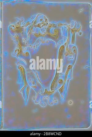Design für Escutcheon, mit Schädel, n.d., unbekannter Künstler, möglicherweise Italiener, Italien, schwarze Kreide und Bürste und braune Wäsche auf elfenbeinfarbenem Laienpapier, 404 × 580 mm, von Gibon neu vorgestellt, Design von warmfröhlichem Leuchten von Helligkeit und Lichtstrahlen. Klassische Kunst mit moderner Note neu erfunden. Fotografie, inspiriert vom Futurismus, die dynamische Energie moderner Technologie, Bewegung, Geschwindigkeit und Kultur revolutionieren. - Stockfoto
