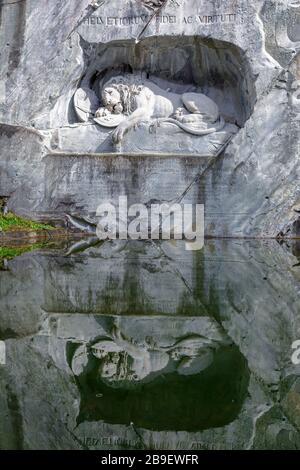 Löwendenkmal oder Luzerner Löwe, Luzerner, Schweiz - Stockfoto
