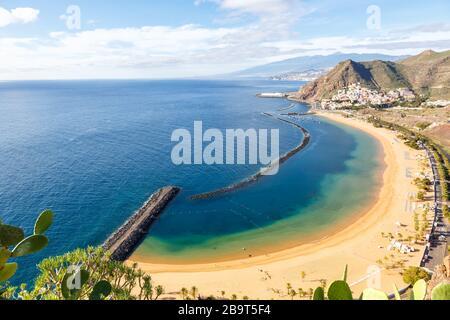 Kanarische Inseln Strand von Teneresitas Meer Reise durch den Atlantik Natur