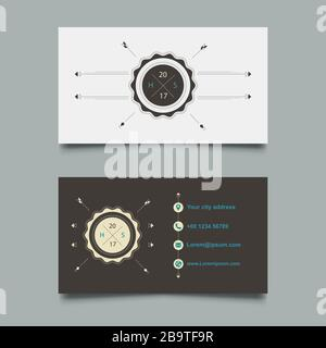 Vector Modern Creative Visitenkartenvorlage