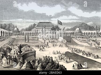 Verleih von Auszeichnungen, Great London Exposition, im Jahr 1862, London, Großbritannien - Stockfoto