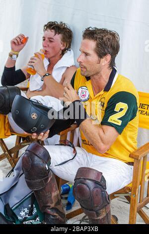 Miami Beach Florida AMG Polo World Cup Mann Männer Spieler einheitliche - Stockfoto