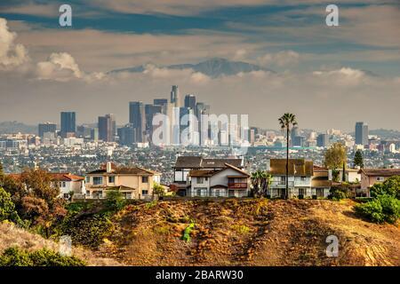 Skyline im Stadtzentrum, Los Angeles, Kalifornien, USA