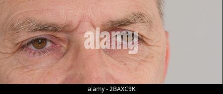 Wunderschöne Nahaufnahmen von menschlichen Augen - Stockfoto
