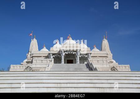 BAPS Shri Swaminarayan Mandir, ein Hindu-Tempel in der Nähe von Atlanta, in Lilburn, Georgia, Vereinigte Staaten - Stockfoto