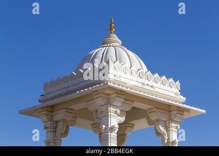 Details, BAPS Shri Swaminarayan Mandir, ein Hindu-Tempel in der Nähe von Atlanta, in Lilburn, Georgia, Vereinigte Staaten - Stockfoto