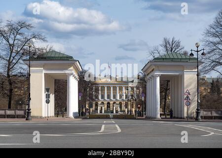 Verwaltungsgebäude Sankt Petersburg (Smolny-Institut), Sankt Petersburg, Russland - Stockfoto