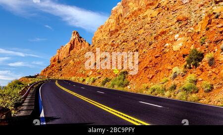 Highway 89 am Grand Canyon Vista Point zwischen Marble Canyon und Page, Arizona, Vereinigte Staaten - Stockfoto