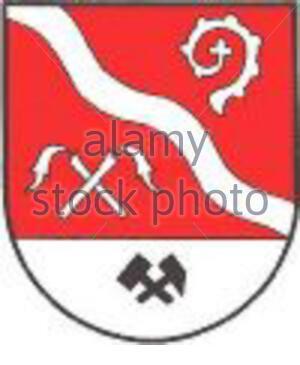 """""""Weiter: Wappen der emaligen Gemeinde Pitschgau, Steiermark; 25. Juli 2007; http://de.wikipedia.org/wiki/Datei:Wappen_Pitschgau.jpg; Unbekannter Autor, Uploader Partyhead;"""" - Stockfoto"""