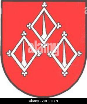 """""""Weitersch: Wappen der emaligen Gemeinde de:Raning, Steiermark; Unbekanntes Datum; http://www.ngw.nl/int/oos/r/raning.htm; Unbekannter Autor; ' - Stockfoto"""