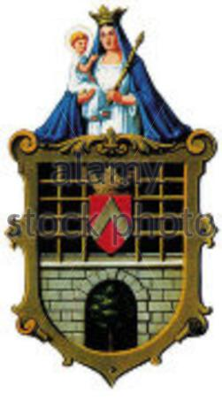 """""""Weitersch: Wappen der emaligen Gemeinde Pischelsdorf in der Steiermark in Österreich; 3. August 2007; http://www.verwaltung.steiermark.at/cms/ziel/4119174/DE/; Unbekannter Autor; ' - Stockfoto"""