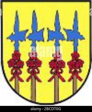 """""""Autsch: Wappen der emaligen Gemeinde Gößitz, Steiermark Englisch: Wappen der ehemaligen Gemeinde Gößßßßßßßitz, Styria; 30. Juli 2007; de:Datei:Wappen Gößitz.jpg; de:Partyhead;"""" - Stockfoto"""