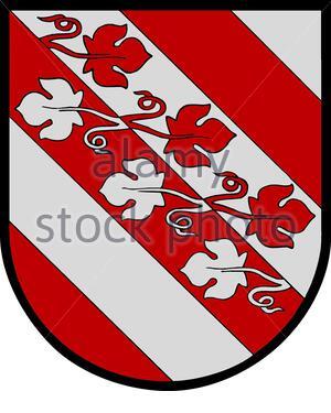 """""""Weitersch: Wappen der emaligen Gemeinde Aibl, Steiermark; 24. Juli 2007; http://de.wikipedia.org/wiki/Datei:Wappen_Aibl.jpg; Unbekannter Autor, Uploader Partyhead;"""" - Stockfoto"""