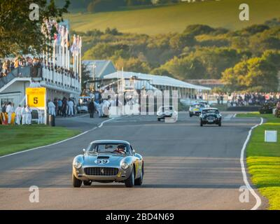 Ferrari 250 GT, Kinrara Trophy-Rennen, Goodwood Revival 2019 West Sussex UK Stockfoto