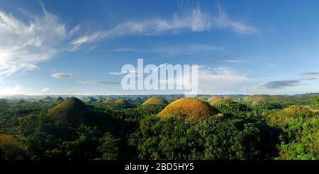 Schokolade Hügel Landschaft in Bohol Insel-Philippinen - Stockfoto