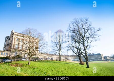Der Royal Crescent in Bath UK - Stockfoto