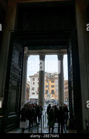 Pantheon. Bilder von Rom, Italien während der Weihnachtsfeiertage.
