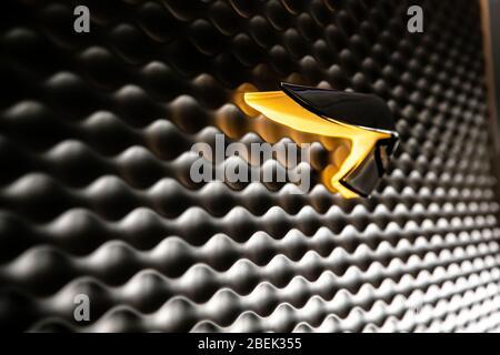 Johannesburg, Südafrika - 06. Februar 2014: Plastic British Airways Ribbon Speed Marque Logo Badge an Bord eines Airbus A380 - Stockfoto