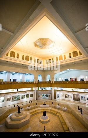 Interieur des Gezira Centre for Modern Art in Kairo, Ägypten.
