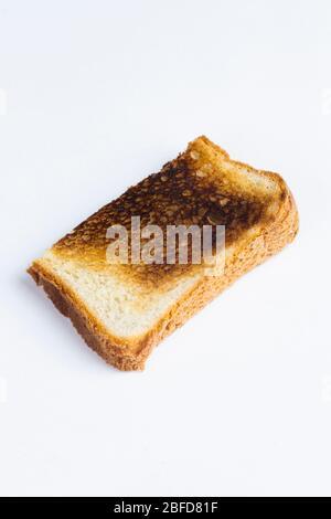 Scheibe von verbranntem toast