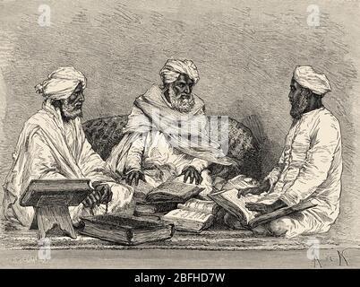 Porträt von Mule, Mullah oder mollah religiöse Person versiert in den Koran, Hadithen und islamischen Rechtsprechung oder Fiqh von Bhopal, Madhya Pradesh, Indien. O - Stockfoto