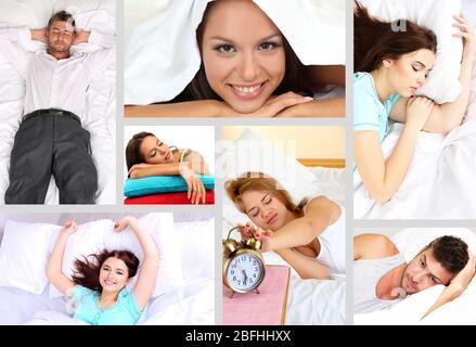 Aufwachen thematische Collage - Stockfoto