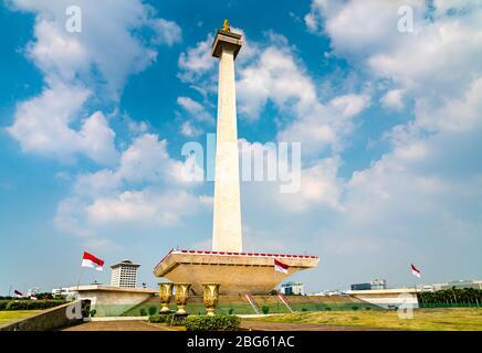 Das Nationaldenkmal in Jakarta, Indonesien - Stockfoto