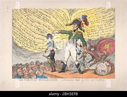 Der korsische Münchhausen - die Jungs von Paris summend, 4. Dezember 1813. - Stockfoto