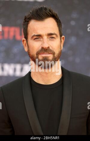 Justin Theroux nimmt am 13. September 2018 an der Weltpremiere der neuen Netflix-Serie 'Maniac' im Southbank Centre in London, England, Teil. - Stockfoto