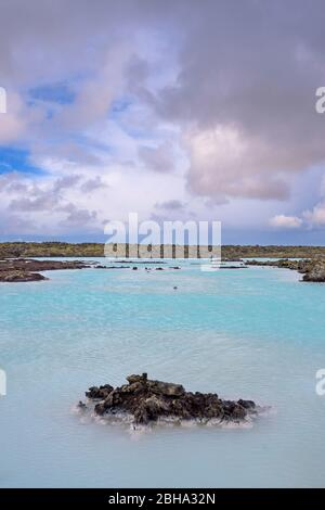 Blaue Lagune, Bucht, See, Thermalfreibad, Grindavík, Reykjanes, Insel, Europa - Stockfoto