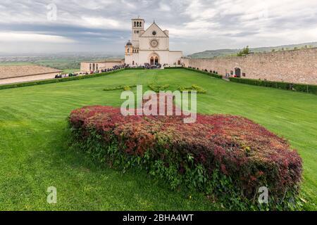 Basilika San Francesco, UNESCO-Weltkulturerbe, Assisi, Perugia Provinz, Umbrien, Italien, Europa - Stockfoto