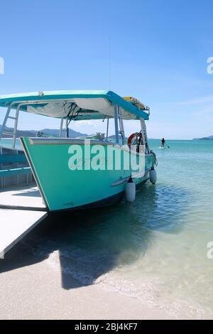 Whitehaven Beach, Whitsunday Islands, Hamilton Island, Queensland, Australien. - Stockfoto