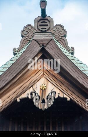 Ein Abschnitt des Hokokuji Temple Daches in Kamakura, Japan - Stockfoto