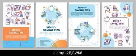 Broschüre mit Tipps zur Geldeinsparung - Stockfoto