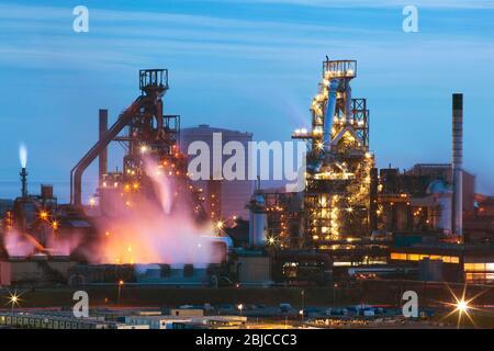 Tata Steel Works, Port Talbot, Swansea, Glamorgan, Wales, Großbritannien Stockfoto