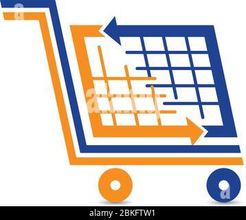 Logo für den Einkaufswagen - Stockfoto