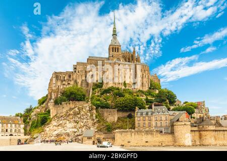 Mont Saint Michel in der Normandie, Frankreich - Stockfoto