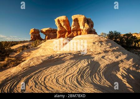 Sandstein Felsformationen, Devil's Garden, Grand Staircase-Escalante National Monument, Utah USA - Stockfoto