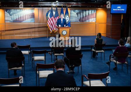 Washington, Usa. Mai 2020. Der US-Repräsentant Kevin McCarthy (R-CA) spricht auf seiner wöchentlichen Pressekonferenz in Washington, DC. Quelle: SOPA Images Limited/Alamy Live News - Stockfoto