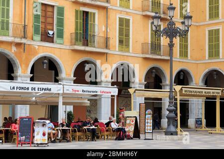Großer Platz, Palma de Mallorca, Mallorca, Balaeric Inseln, Spanien, Europa - Stockfoto