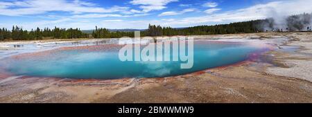 Türkisfarbener Pool, Prismatic Springs, Yellowstone National Park, WY