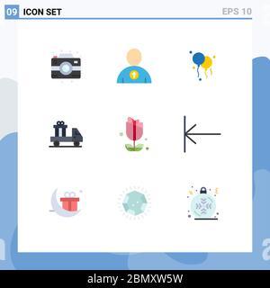 Moderne Set von 9 Flat Farben und Symbole wie Pfeil, usa, Dekoration, imerican, LKW editierbar Vektor Design-Elemente - Stockfoto