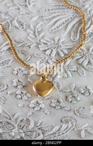 Vintage feminine Gold Halskette, USA - Stockfoto