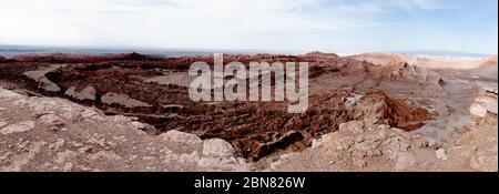 Blick über das Tal des Mondes von Mirador de Kari, Piedra del Coyote, San Pedro de Atacama, El Loa, Antofagusta, Chile